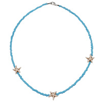 Starfish Pendant Beaded Short Clavicle Necklace Bohemia Beach Wind Ladies Necklace Jewelry