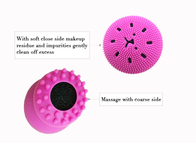 BPA бесплатная гладкая кожа корейский стиль массажер для лица щетка для очистки лица силиконовая щетка для лица
