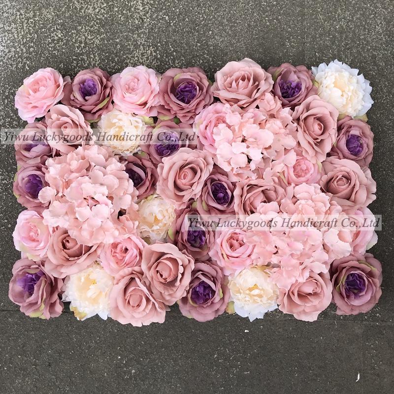 LFB920 plastic silk artificial flower for wedding 3D Floral Backdrop