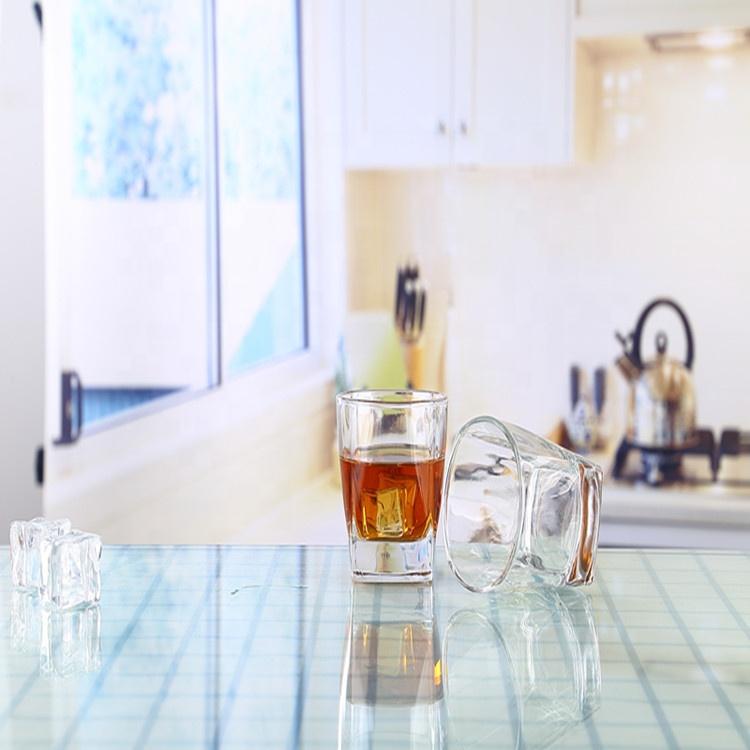 Grosir Gelas Kristal Bentuk Persegi Minum, Tumbler Air Bir Gelas Set