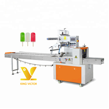 Horizontale kleine ice lolly popsicle vulling verpakking verpakking machine