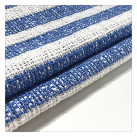 high quality strip tweed metallic woven dyed pure 100 cotton fabric