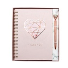 2020 New Design Rose Gold Foil Notebook and Pen Gift Set, Custom Luxury Office Stationery Set for Girl