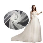 Bridal Illusion Bright Tulle Mesh Fabric for Wedding Dress and Veil