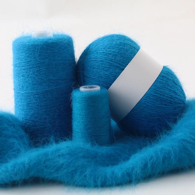 fluff Mink Angora long hair hand knitting yarn for hand knitting