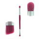 single vegan makeup brushes private label blending double ended professional single angled disposable pink brush eyeshadow