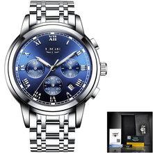 LIGE мужские спортивные часы, новые топовые автоматические ударопрочные часы с турбийоном из нержавеющей стали(Китай)