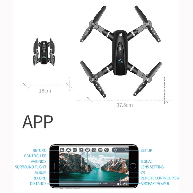 S167 5G 1080P WIFI Foldable GPS Positioning Remote Control Aircraft RC Quadcopter Drone