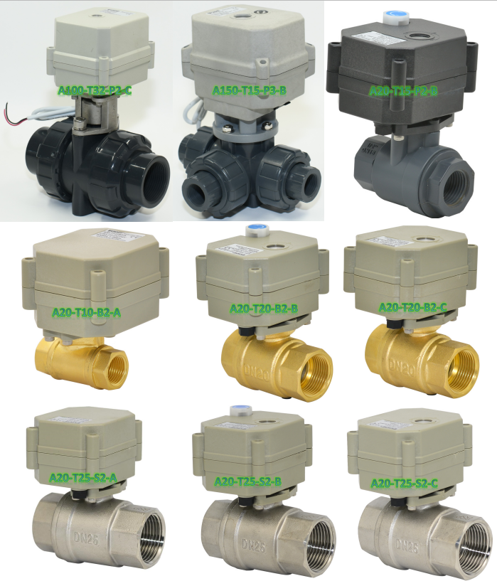 "Control signal 4-20mA intelligent modulating actuator 0-5V DN20mm 2 way 3/4"" inch brass ball valve"