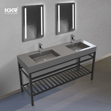 2020 Modern Double Vanity Sink Set Hotel With Lighting Mirror