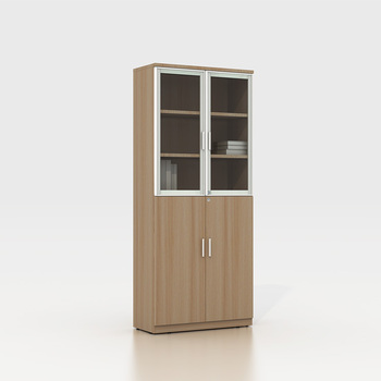 Factory price New Wood Design The Wooden Bookshelf Executive Storage Office Filing Cabinet with Glass door