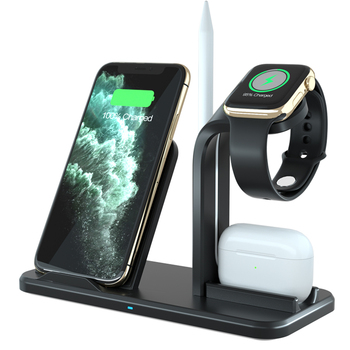 2019 Newest Fast qi 3in1 wireless charger For i Phone i Watch eabuds
