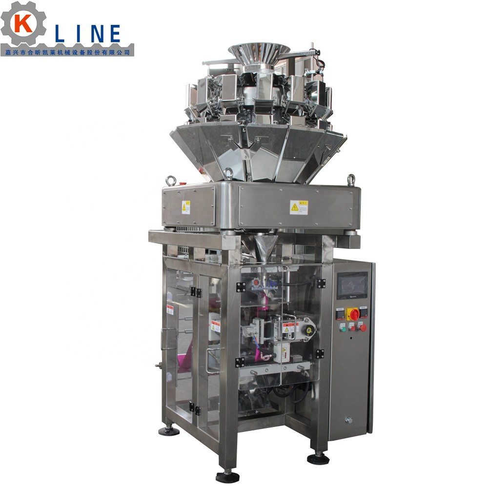 Automatic Vertical Multihead Weigher Granule Snacks Packing Machine
