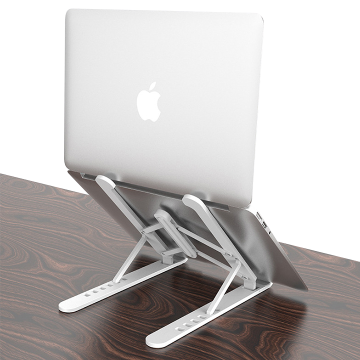 Source factory lower price foldable adjustable portable ABS aluminum alloy desk laptop holder stand