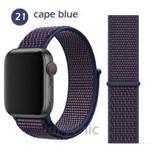 Ремешок для часов Apple Watch band 5 4 3/1 38 мм 42 мм, нейлоновый мягкий дышащий сменный спортивный ремешок для iwatch 5 4 3 2 40 мм 44 мм браслет(Китай)