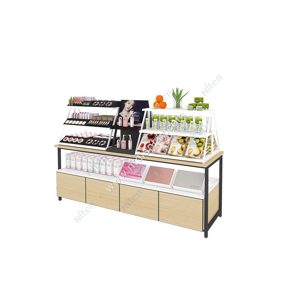 Noel öğe özelleştirilmiş alışveriş merkezi kozmetik Kiosk ekran makyaj malzemesi teşhiri zemin standı satılık