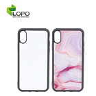 Wireless charge dye sublimation print Tempered glass insert Sublimation Blanks TPU phone case for iPhone XS
