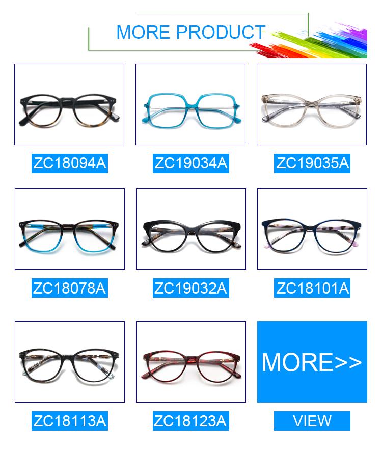 ZC18094A 중국 블루 라이트 차단 안경 광학 프레임 아세테이트 안경