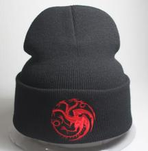 Fashion Nieuwe Mannen Vrouwen Dragon Warm Caps Mutsen Game of thrones Skullies Gebreide Hoeden Bone