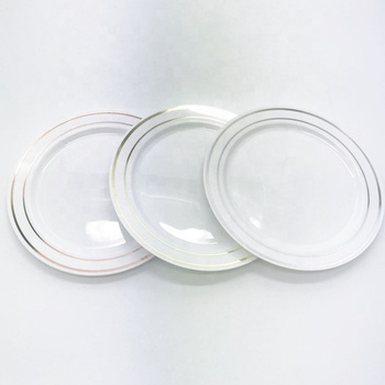 Heavyweight Wedding Party Disposable Plastic Plates