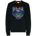 Custom Logo Crew Neck Black Sweatshirt High Quality Embroidered Tiger Designer Sweatshirt