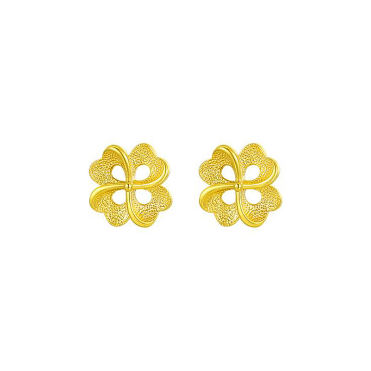 High-Grade Real Gold Plated <strong>Earrings</strong> Delicate Jewelry <strong>Flower</strong> Shaped <strong>Earrings</strong> Women Copper Alloy Stud <strong>Earrings</strong>