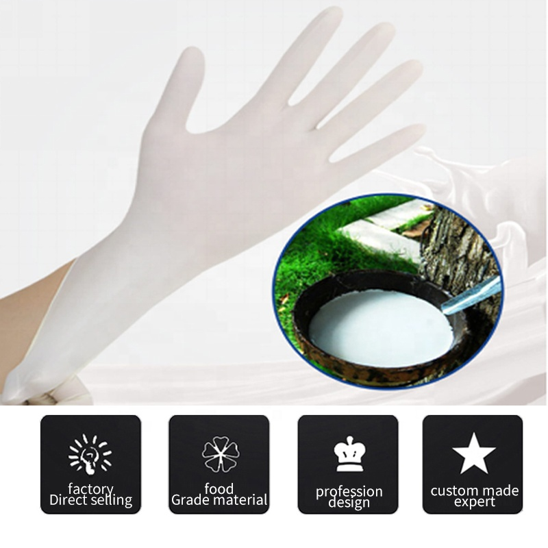 Factory Supply Disposable Rubber Latex Examination Gloves for Hospital