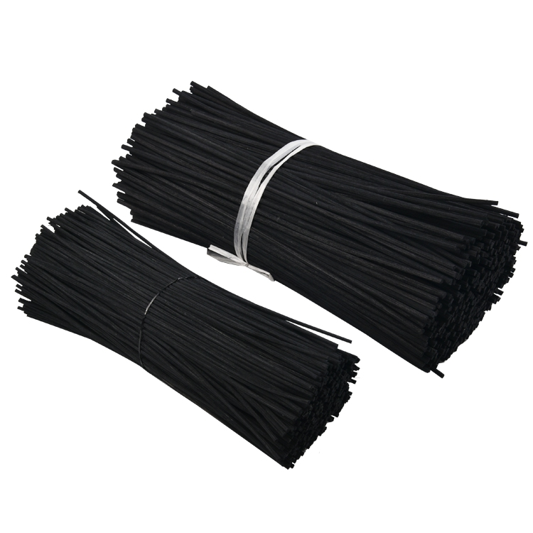 Wholesale bulk label DIY Christmas 60cm black home decorative aroma fragrance reed diffuser rattan sticks for sale