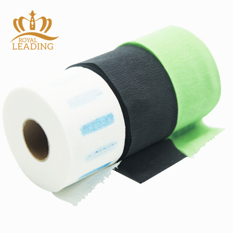 Colorful Disposable Dairdressing Neck Ruffles Tissue Paper Strip Roll For Hair Cut Barber Salon