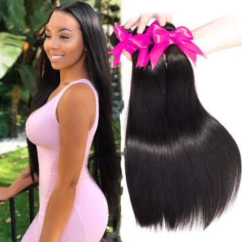 Wholesale Cheap Virgin Peruvian Hair Straight Weave Human Hair Bundles