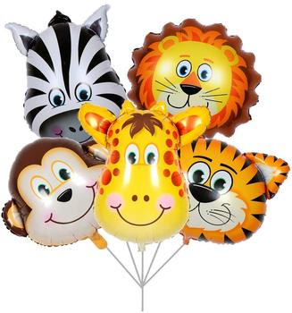 Jungle Safari Animals Balloons - 22 Inch Giant Zoo Animal Balloons Kit for Jungle Safari Animals Theme Birthday Party Decoration
