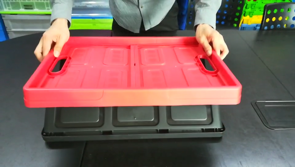 DEAO Foldable Plastic Collapsible Storage Container Crate Box
