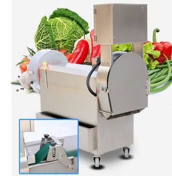 multi function commercial leafy root bulb vegetable slice cuttermachine/fruit and vegetable cube cutting processing machine