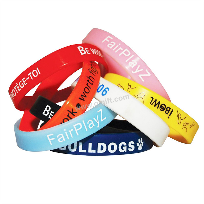 1 Inch Custom Camouflage Bar Code Double Sided Emoticon Memorial Silicone Wristband Rubber Bracelet For Men With 3d Logo