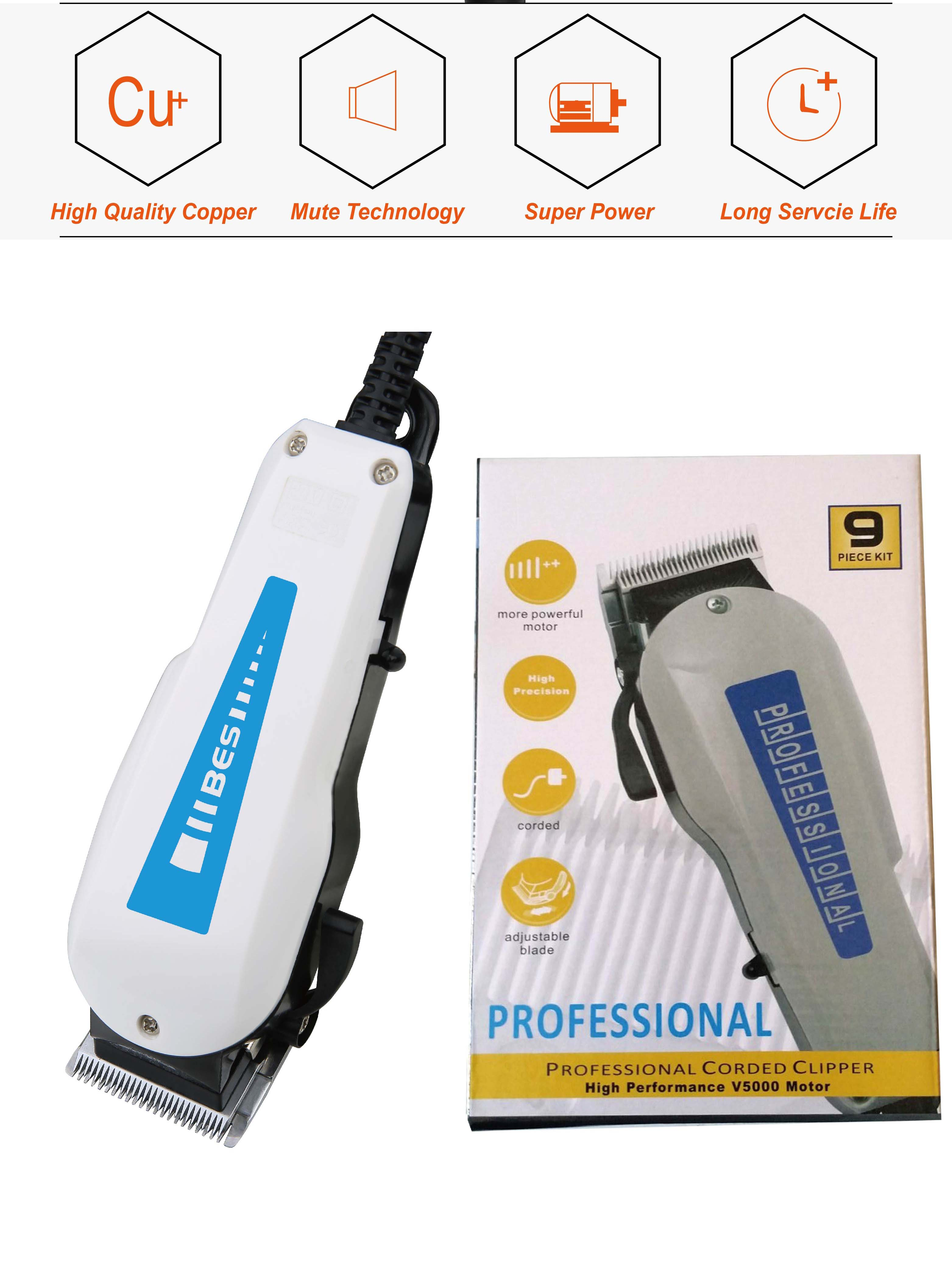 BES-808 Hot Sale Professional Classic Barber Corded Hair Clipper