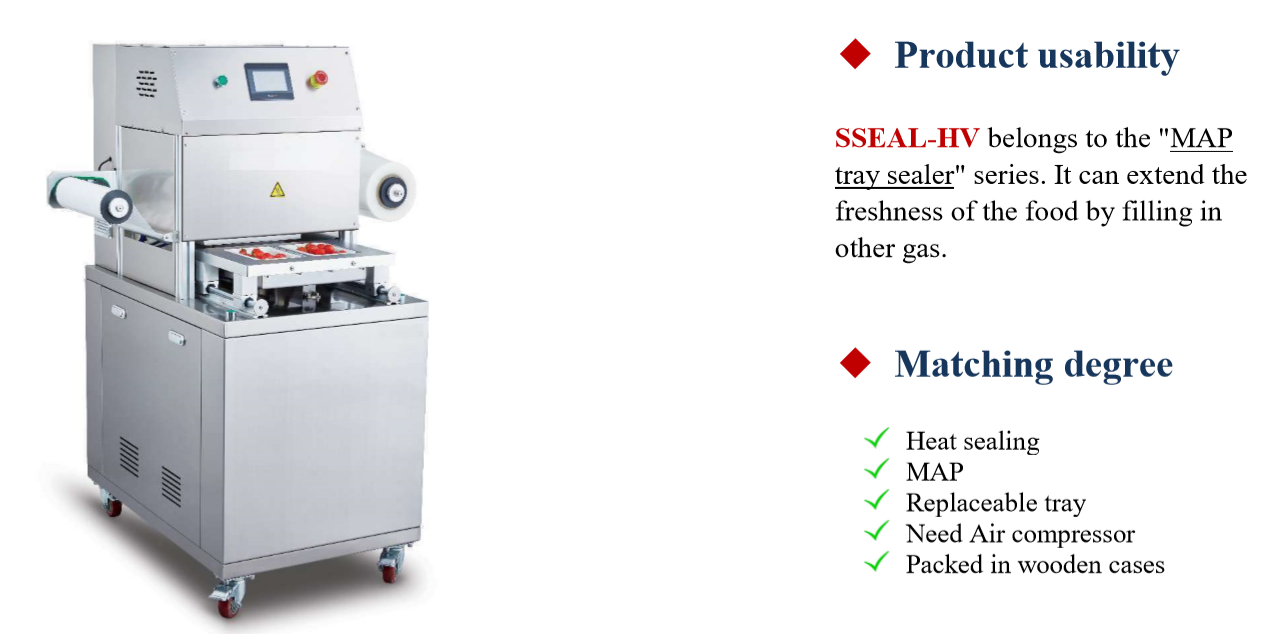High-efficiency Factory custom new type price Automatic food tray sealer tray sealing machine to America