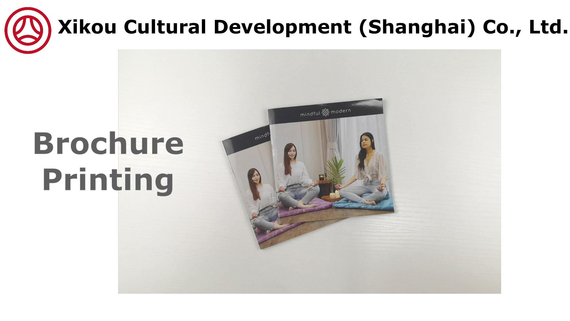New Saddle Stitched Customized Booklet Catalog Printing Colour Folding Brochure Sample