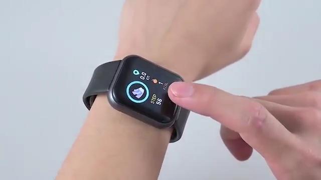ساعة ذكية 2020 y68 d20 مصنع الروبوت ios 3D G-الاستشعار BT4.0 عداد الخطى معدل ضربات القلب وضغط الدم بلوتوث دفع تذكير