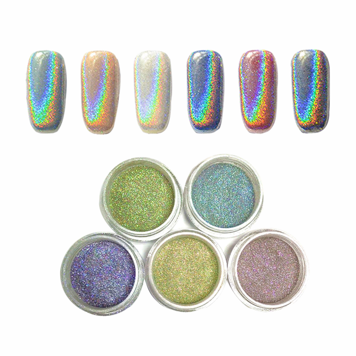 Hologram rainbow light holographic pigment powder for nails holo pigment supplier
