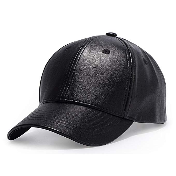 Winter Solid Plain PU Leather Baseball Cap 6 Panel Flex fit Men's Outdoor Hats Caps Baseball