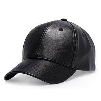 Winter Solid Plain PU Leather Baseball Cap 6 Panel Men's Outdoor Hats Caps Baseball