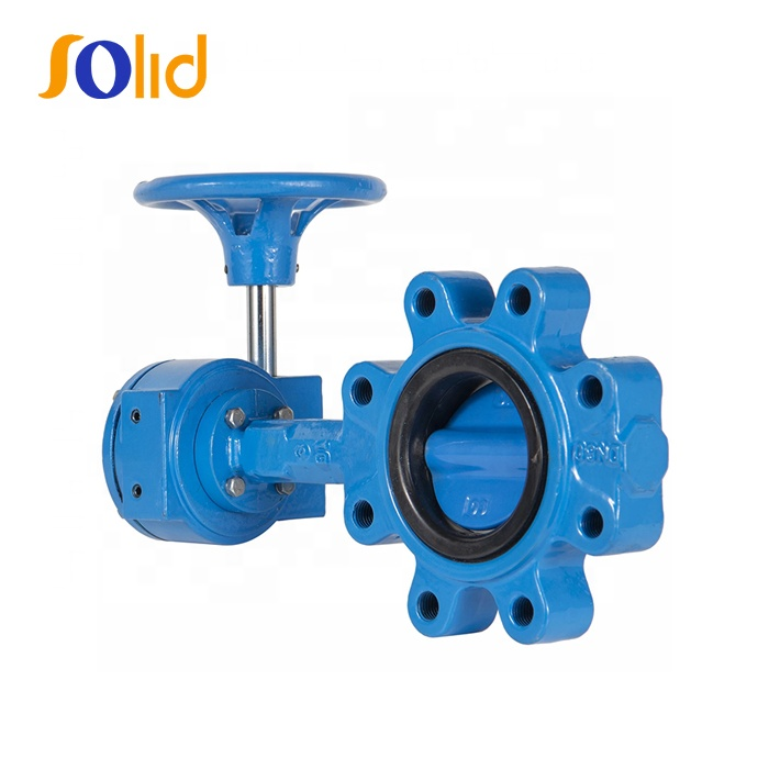 Ductile Cast Iron Lugged Type Wafer Control Butterfly Valve