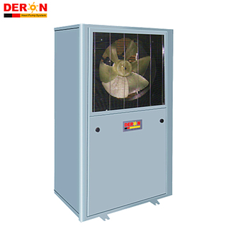 Deron 12KW heating capacity R407C EVI air to water heat pump/low temp. operating system/vapor enhanced with high COP DE-27W/CW