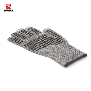 Work safety cut resistant gloves silicone dotted non skid touch screen slide up phone
