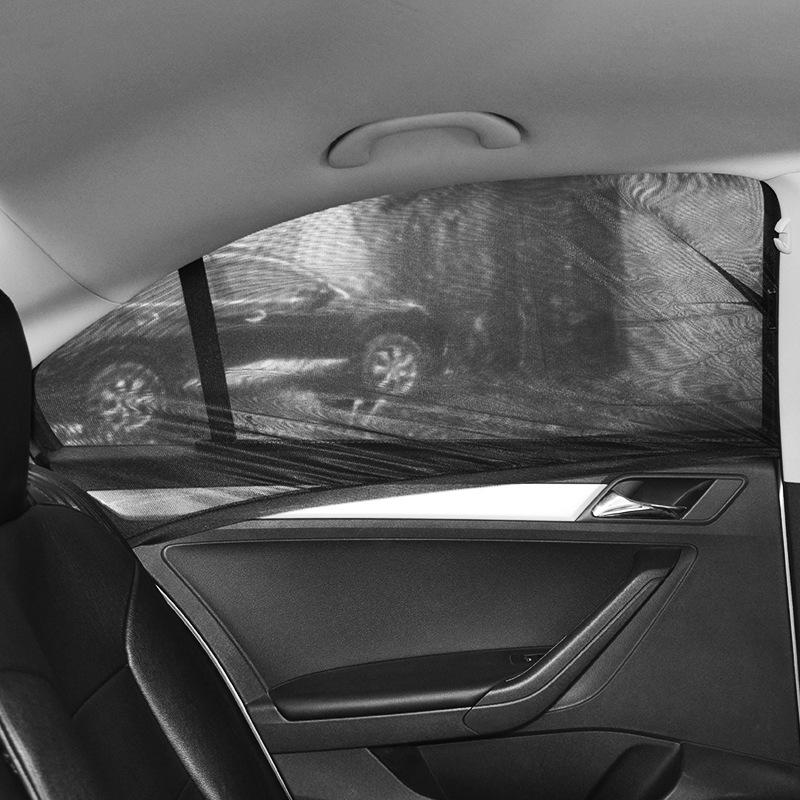 Нестандартный размер, зашифрованная сетка, одиночная перспектива, складная Автомобильная боковая оконная крышка, солнечные магнитные шторы, занавеска для ребенка