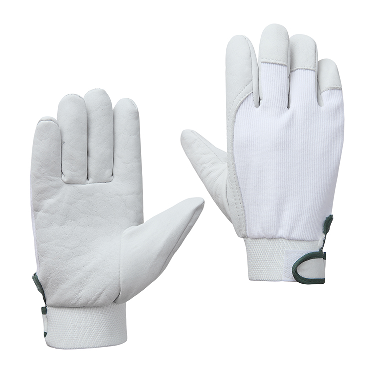 Hot selling top goatskin leather cotton driving camping automotive manufacturing gloves