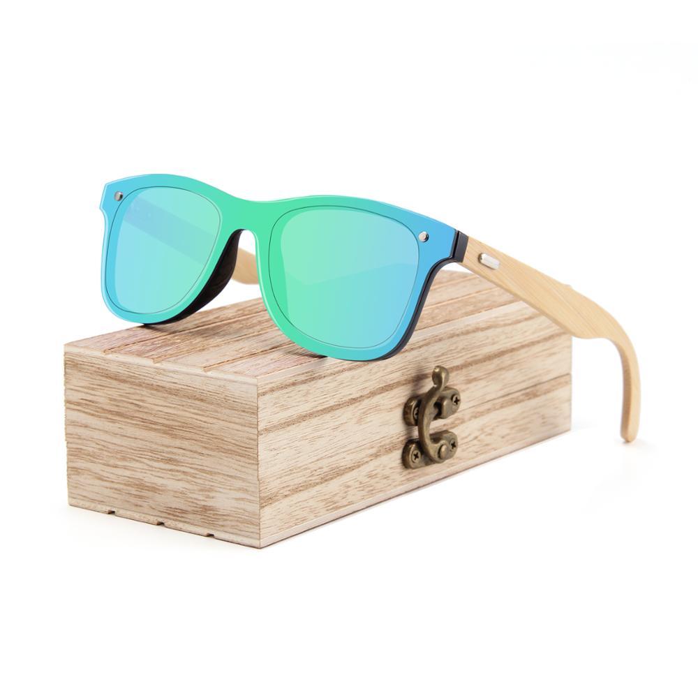 2020 new arrival custom logo sun glasses bambu plastic frame bamboo temple sunglasses 2021