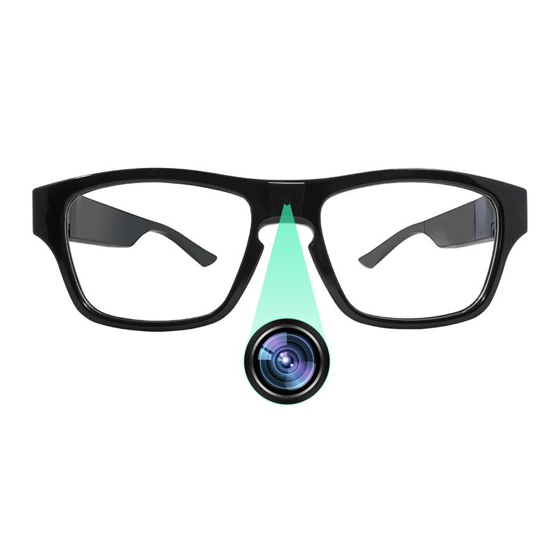 Kacamata Kamera Mata Perekam Video 75 Menit, Kamera Sensor CMOS 5MP HD 1080 Menit dengan Kendali Sentuh untuk Keamanan Rumah dan Bisnis