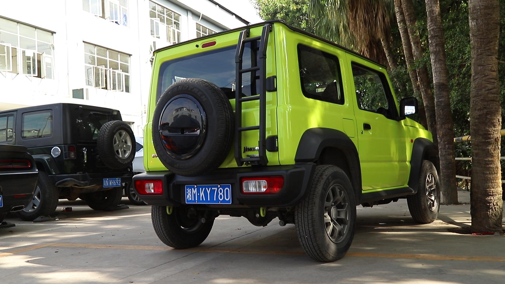 Accessori Per auto In Lega di Alluminio Macchina di Scala Posteriore Porta Posteriore Portellone JB74 Scaletta per Suzuki Jimny 2019 2020