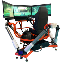 High Profit Car Racing Games Free Download 1 Seat Dynamic 3 Screens 3 DOF Race Car Driving Simulator